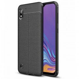 Coque Silicone Xiaomi Samsung Galaxy A10 Cuir Noire 3D