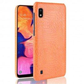 Coque Samsung Galaxy A10 Croco Cuir Orange