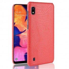 Coque Samsung Galaxy A10 Croco Cuir Rouge