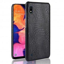 Coque Samsung Galaxy A10 Croco Cuir Noire