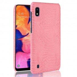 Coque Samsung Galaxy A10 Croco Cuir Rose