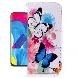 Etuis Portefeuille Samsung Galaxy A10 Papillon