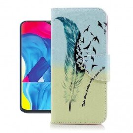 Etuis Portefeuille Samsung Galaxy A10 Oiseaux