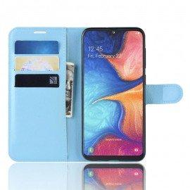 Etuis Portefeuille Samsung Galaxy A10 Simili Cuir Bleu