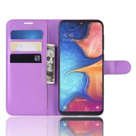 Etuis Portefeuille Samsung Galaxy A10 Simili Cuir Lila