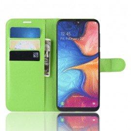 Etuis Portefeuille Samsung Galaxy A10 Simili Cuir Vert