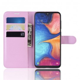 Etuis Portefeuille Samsung Galaxy A10 Simili Cuir Rose