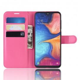 Etuis Portefeuille Samsung Galaxy A10 Simili Cuir Fushia
