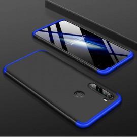 Coque 360 Xiaomi Redmi Note 8 Noire et Bleue