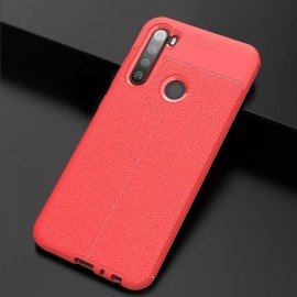 Coque Silicone Xiaomi Redmi NOTE 8 Cuir 3D Rouge