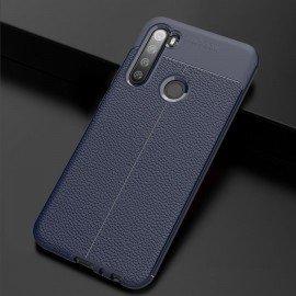 Coque Silicone Xiaomi Redmi NOTE 8 Cuir 3D Bleue