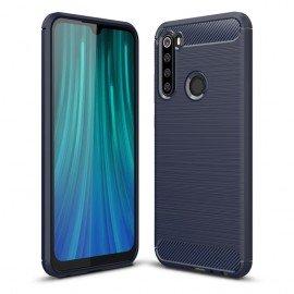 Coque Silicone Xiaomi Redmi NOTE 8 Carbone 3D Bleue