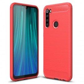 Coque Silicone Xiaomi Redmi NOTE 8 Carbone 3D Rouge