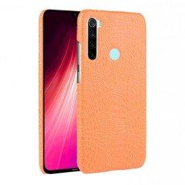 Coque Xiaomi Redmi Note 8 Crocodile Cuir Orange