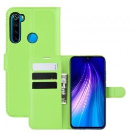 Etuis Portefeuille Xiaomi Redmi Note 8 Simili Cuir Vert