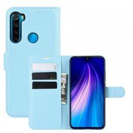 Etuis Portefeuille Xiaomi Redmi Note 8 Simili Cuir Bleu