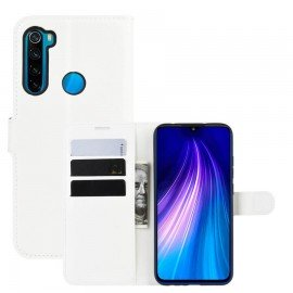 Etuis Portefeuille Xiaomi Redmi Note 8 Simili Cuir Blanc