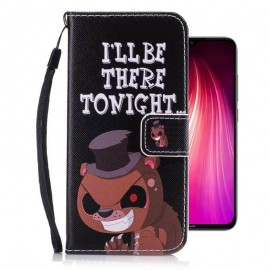 Etuis Portefeuille Xiaomi Redmi Note 8 Ours