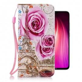 Etuis Portefeuille Xiaomi Redmi Note 8 Fleur