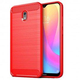 Coque Silicone Xiaomi Redmi 8A Brossé Rouge