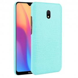 Coque Xiaomi Redmi 8A Croco Cuir Turquoise