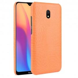Coque Xiaomi Redmi 8A Croco Cuir Orange