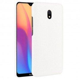 Coque Xiaomi Redmi 8A Croco Cuir Blanche