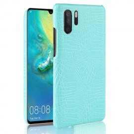 Coque Huawei P30 PRO Cuir Croco Turquoise