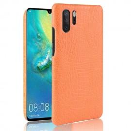 Coque Huawei P30 PRO Cuir Croco Orange