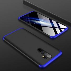 Coque 360 Xiaomi Redmi Note 8 Pro Noire et Bleue