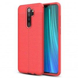 Coque Silicone Xiaomi Redmi NOTE 8 Pro Cuir 3D Rouge