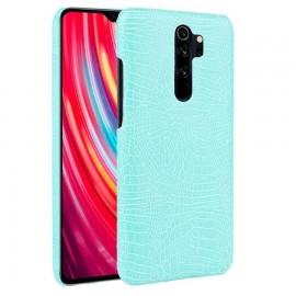 Coque Xiaomi Redmi Note 8 Pro Crocodile Cuir Turquoise