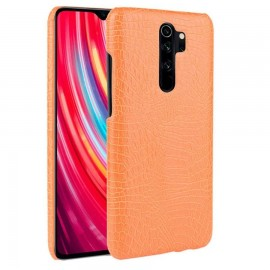 Coque Xiaomi Redmi Note 8 Pro Crocodile Cuir Orange