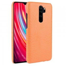 Coque Xiaomi Redmi Note 8 Pro Crocodile Cuir Orange