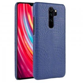 Coque Xiaomi Redmi Note 8 Pro Crocodile Cuir Bleue