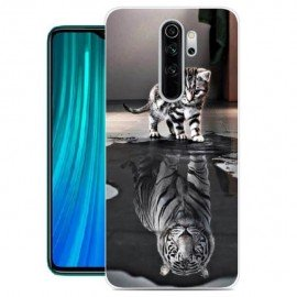 Coque Silicone Xiaomi Redmi Note 8 Pro Chat Mirroir