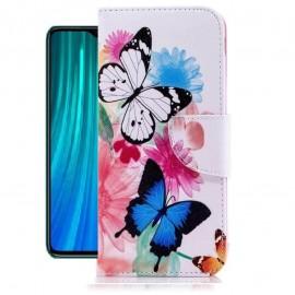 Etuis Portefeuille Xiaomi Redmi Note 8 Pro Papillon