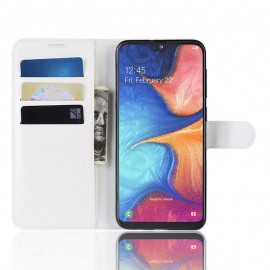 Etui Portefeuille Xiaomi Redmi Note 8 Pro Simili Cuir Blanc
