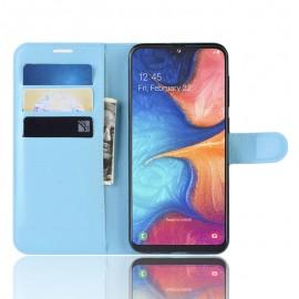 Etuis Portefeuille Xiaomi Redmi Note 8 Pro Simili Cuir Bleue