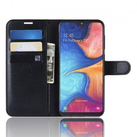 Etuis Portefeuille Xiaomi Redmi Note 8 Pro Simili Cuir Noir