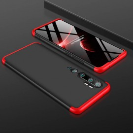 Coque 360 Xiaomi Mi Note 10 Noire et Rouge