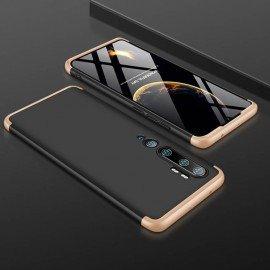 Coque 360 Xiaomi Mi Note 10 Noire et Dorée