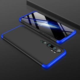 Coque 360 Xiaomi Mi Note 10 Noire et Bleue