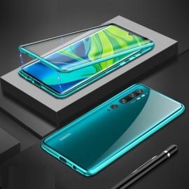 Coque double Xiaomi Mi Note 10 Magnetique Verte
