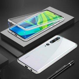 Coque double Xiaomi Mi Note 10 Magnetique Argent