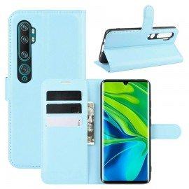 Etuis Portefeuille Xiaomi Mi Note 10 Simili Cuir Bleu
