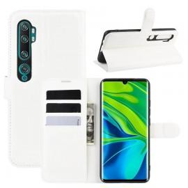 Etuis Portefeuille Xiaomi Mi Note 10 Simili Cuir Blanc