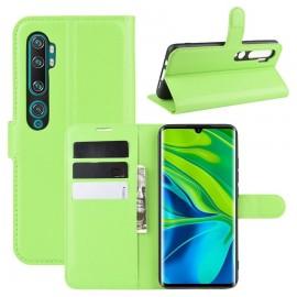 Etuis Portefeuille Xiaomi Mi Note 10 Simili Cuir Vert