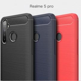 Coque Silicone Realme 5 Pro Tpu Carbone 3D
