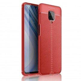 Coque Xiaomi Redmi Note 9 Pro Tpu Cuir 3D Rouge
